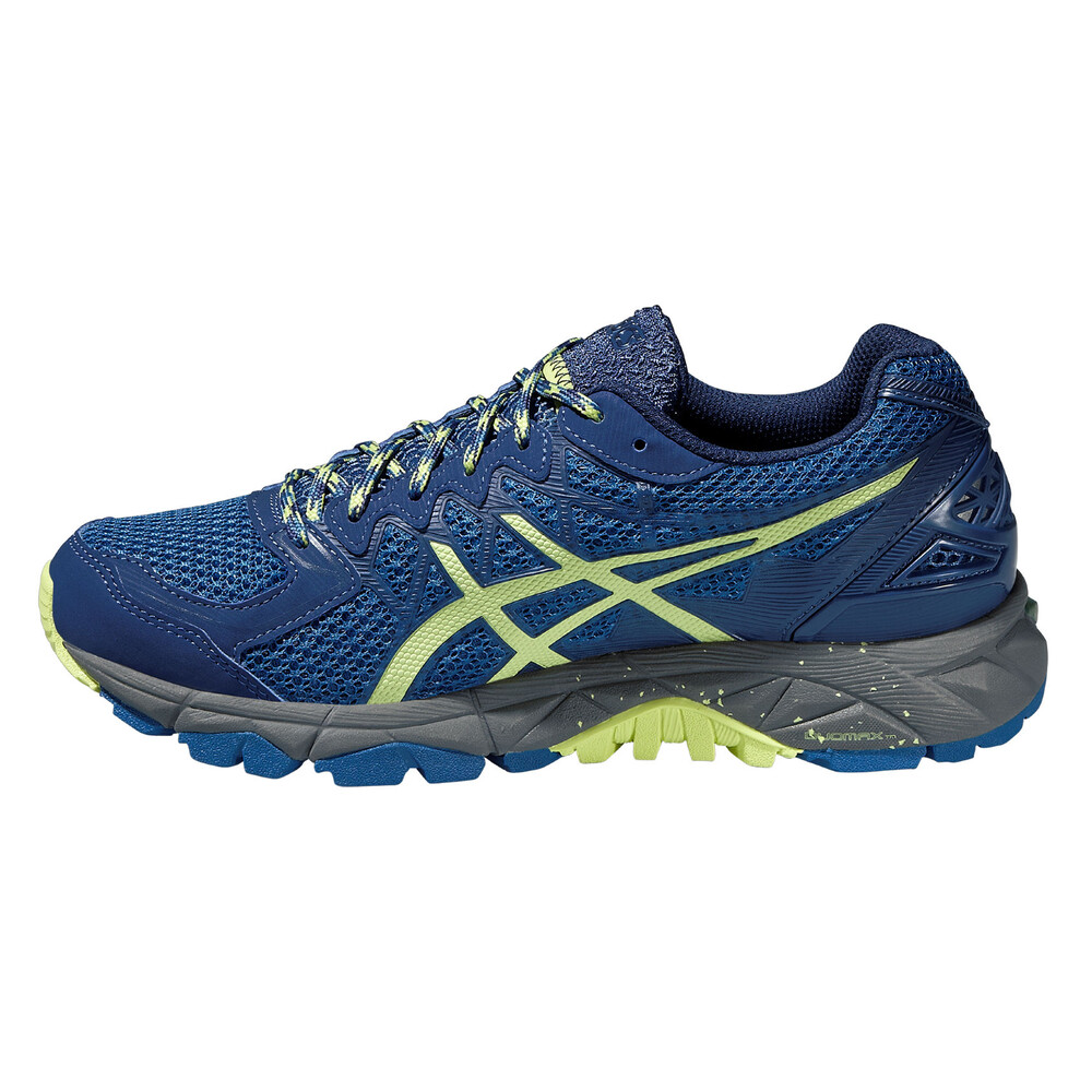 asics Gel-FujiTrabuco 4 Shoe Women slate blue/sharp green/carbon 37 2016 Laufschuhe